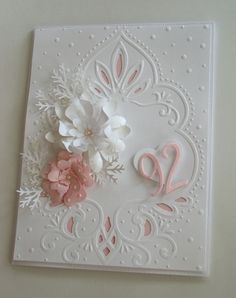The Soft Side by Tankerton - Cards and Paper Crafts at Splitcoaststampers Pretty Cards, Cute Cards, Birthday Cards, Happy Birthday, Special Birthday, Embossed Cards, Beautiful Handmade Cards, Marianne Design, Card Tags