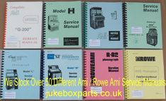 A selection of Rowe Ami Service Manuals that we stock at www.jukeboxparts.co.uk