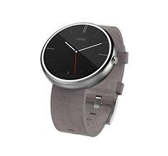 online shopping for Motorola Moto 360 - Stone Grey Leather Smart Watch from top store. See new offer for Motorola Moto 360 - Stone Grey Leather Smart Watch Sport Watches, Watches For Men, Stylish Watches, Smartwatch Android, Android Wear, Android 4, Android Phones, Bracelet Cuir, Wearable Technology