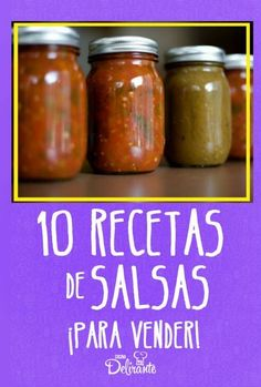 10 delicious sauces to sell and make money Authentic Mexican Recipes, Mexican Salsa Recipes, Mexican Dishes, Kitchen Recipes, Cooking Recipes, Yummy Food, Tasty, Salsa Verde, Sauce Recipes