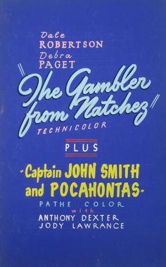 THE GAMBLER FROM NATCHEZ starring Dale Robertson & Debra Paget. VFn. $40
