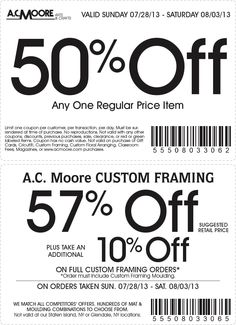 AC Moore Coupons Ends of Coupon Promo Codes MAY 2020 ! Save more. We and share create and more. Different Coupon types and it's use. Free Printable Coupons, Free Printables, Ac Moore, Green Gifts, Discount Coupons, Ways To Save Money, Custom Framing, How To Apply, July 14th