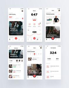 Virgin active redesign 02 – Meri R. Ui Design Mobile, App Ui Design, Interface Design, Design Websites, Mobile App Design Templates, Flat Design, Design Design, Wireframe, Design Thinking