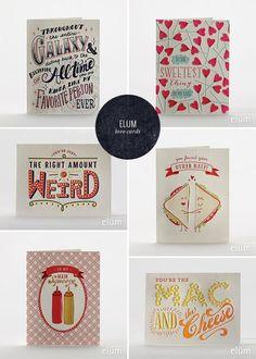 Love & Valentine's Day Letterpress Cards   Elum