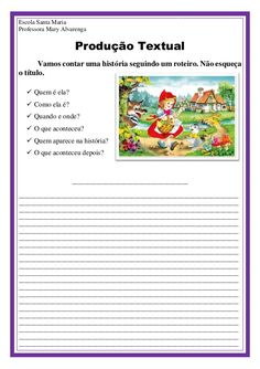 Produção textual Learn Portuguese, Education, Lps, Learning, Tall Tales Activities, Writing Activities, Abc Centers, Autism, Manualidades
