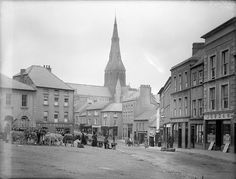 Real Photo The Market Square C1900 Professional Design Buy Cheap Old Large Historic Photo Of Enniscorthy Wexford Ireland
