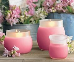 PINK  CANDLES . . .  YES  !!