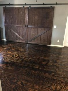 Stained Plywood Floor We Remodeled An Old Trailer House
