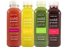 June 6th—Fearlessly Archived—Still a fun read; price & availability may have changed.   	Trader Joe's Cold Pressed Juices are just that, 100% juice made with...