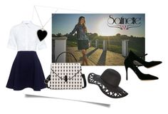 """""""Satinette in black and white"""" by trendcrossing ❤ liked on Polyvore featuring Tabitha Simmons, Paul & Joe Sister and Jennifer Meyer Jewelry"""