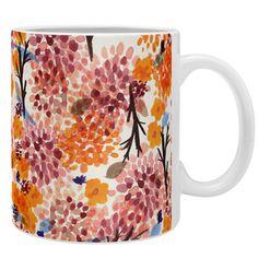 East Urban Home Joy Laforme Floral Forest Orange Coffee Mug