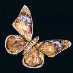 Wallace Chan Butterfly Brooch