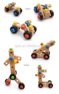 015 nuevas herramientas de bricolaje de madera silla de juguete para niños, mesa de trabajo de construcción de madera de juguete para niños, herramientas de juguete de madera Silla para bebé