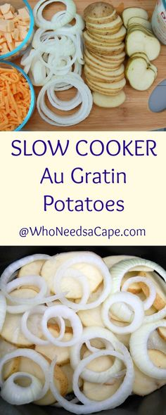 Holiday Meal - Slow Cooker Side Dish Au Gratin Potatoes