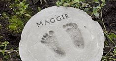 Looking for the perfect Mother's Day gift? See how to make footprint garden stones to document those sweet little feet with these easy DIY instructions.