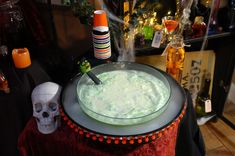 Kids Halloween Punch Recipe with a DIY Dry Ice Display