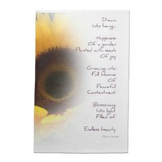 Sunflower Dream Poem Towel