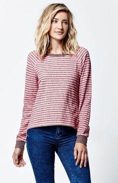 Lived In Stripe Crew Neck Sweatshirt