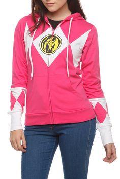 Pink Power Ranger hoodie | Hot Topic