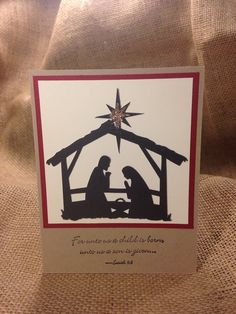 Nativity Silhouette Christmas Card on Etsy, $15.00