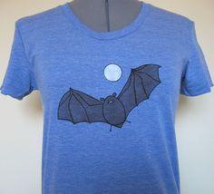 Fruit Bat Women's Shirt Vintage Blue by limeyts on Etsy