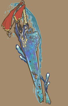 """Listen To My Story"" Beautiful new artwork from Stephanie Skiles, themed after Tidus' sword from Final Fantasy X."