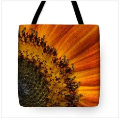 Art doesn't have to just be on a wall. You can live with your favorite art everyday. Artists are taking advantage of POD companies to create amazing products.  All I have to say is that as an avid gardener this would be an epic gift idea.  #gfits #gardens #flowers  http://fineartamerica.com/products/detail-orange-sunflower-kelly-paal-tote-bag.html