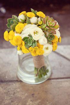 ranunculus and succulents