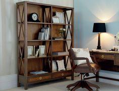 Balmoral Chestnut Double Bookcase