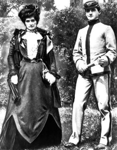 Douglas MacArthur and his mother, 1899. via www.usace.army.mil