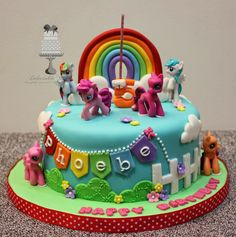 Delectable Delites: My Little Pony cake for Phoebe's 5th birthday