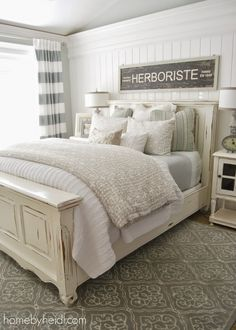 Love this look...via 10 Ways to Make your Bed EXTRA Comfy | Happily Ever After, Etc.