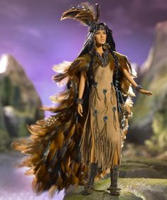 Wind Rider Barbie... a beautiful but condescendingly whitey Native American doll.