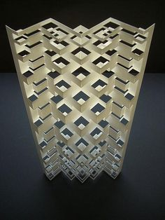 5 spine concertina fold (paper weave) by elod beregszaszi, via Flickr