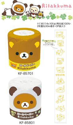 San-X 7月【預購】拉拉熊幸運草熊貓主題捲筒衛生紙。2款可選:MY-mono玩生活