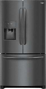 The Frigidaire Gallery cu. Smudge-Proof Black Stainless Steel French Door Refrigerator has a large capacity so you can store more. It's easy to stay organized with a Full-Width Drawer that is Stainless Steel Counters, Stainless Steel Refrigerator, Black Stainless Steel, Stainless Appliances, French Door Refrigerator, Kitchen Countertops, Kitchen Appliances, Kitchens, Cottage Gardens