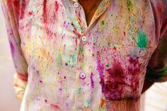 colorful shirt at Holi Festival