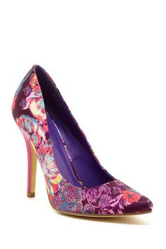 Pinky Beauty Heel Music Floral Pump by Non Specific on @HauteLook