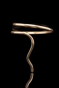 One of my Favorites MINIMAL & ELEGANT Designs - Call it SALOME - Handmade ARM Bracelet- 18 ct Goldplate Bronze-