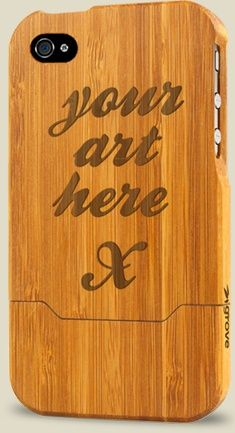 Grove bamboo cases for iPhone and iPad, with optional custom laser engraving.