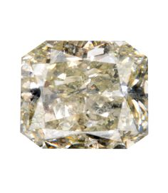 0.40 Carat Fancy Light Brownish Greenish Yellow Radiant Diamond
