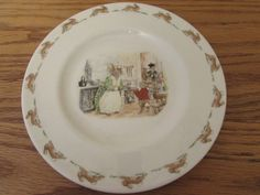 "Vintage ""Bunnykins"" 1988 Royal Doulton Plate English Fine Bone China 8"" by OldWindmillMarket on Etsy"