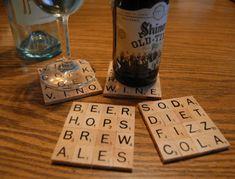 Scrabble Drink Coasters