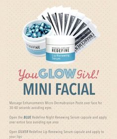 Rodan and Fields Mini Facial Instructions Contact me to learn more about these fantastic products! apampinella95@gmail.com apampinella.myrandf.com