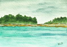 ACEO Maine Painting Original Small Watercolor by kathleendaughan, $15.00