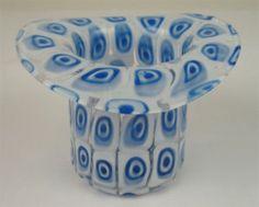 Italian Murano Galliano Murrine Art Glass Hat | eBay