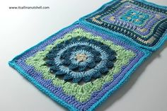 Nuts about Squares CAL – Week 10 Moroccan Window - Heather Gibbs Sweet and Fair - Julie Yeager Crochet Squares Afghan, Granny Square Afghan, Crochet Blocks, Granny Square Crochet Pattern, Crochet Stitches Patterns, Crochet Motif, Free Crochet, Stitch Patterns, Granny Squares