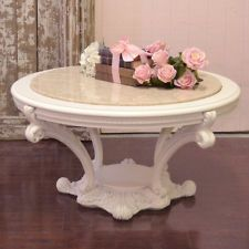 1000 images about shabby chic coffee center tables on for Antique cream coffee table