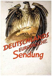 This poster was distributed by the Nazis throughout occupied Europe, circa 1942 onward. It was an attempt by Hitler to persuade Europe that Germany was part of the Eastern crusade against Bolshevism. (The Molotov-Ribbentrop Pact, ie, the Treaty of Non-Aggression between Germany and the Soviet Union, signed on August 23, 1939 was the precursor to the joint invasion and partition of Poland on September 1st, 1939.) The treaty was abrogated when Hitler turned his armies against Russia in June…