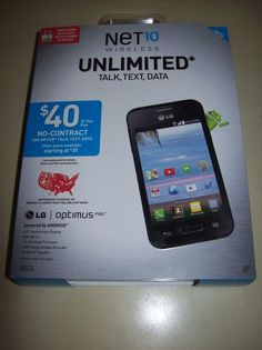 Net10 LG Optimus Fuel Android Black 3G Data Capable No Contract Smartphone - New #LG #Bar